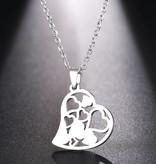 Damen Halskette mit Herzanhänger