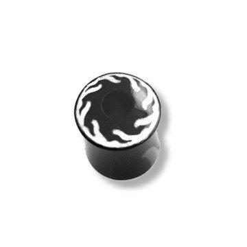 Horn & Bone Plug schwarz - weiß