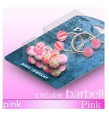 1,6 mm Hufeisenring Set - pink