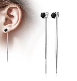 Ohrhänger lang Edelstahl