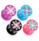 Ohr Plug Blume 4 Farben wählbar