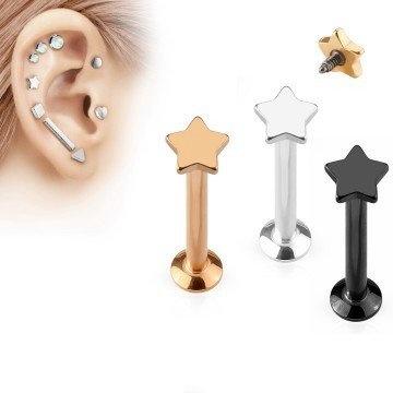 1,2mm Flat Piercing - 3 Farben zur Auswahl