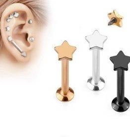 Flat Piercing Stern aus Chirurgenstahl