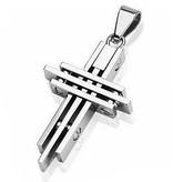 Kreuzanhänger Edelstahl für Halsketten