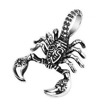 Skorpion Anhänger aus Edelstahl