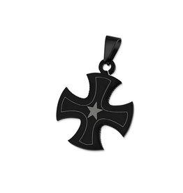Kreuz Anhänger schwarz