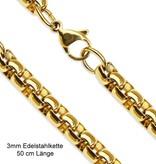 Goldfärbige Edelstahl Halskette 50 cm