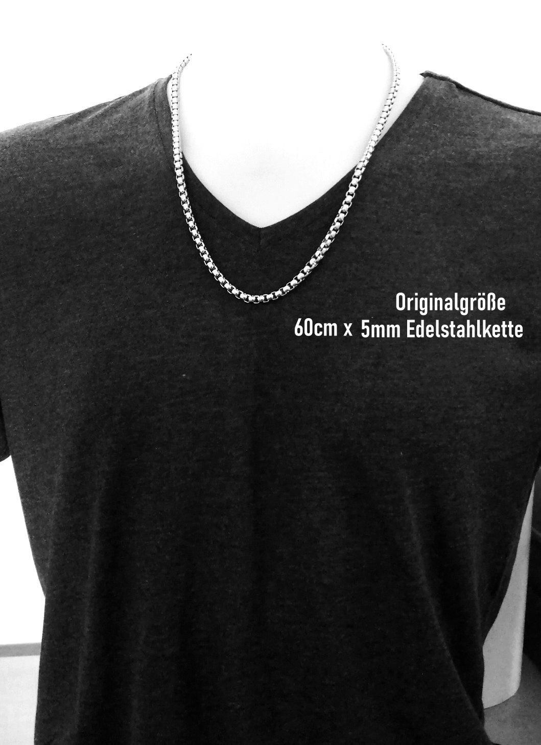 5mm Edelstahl Halskette 50 | 55 | 60 cm