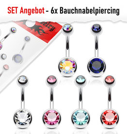 Set Angebot 6x Bauchpiercing