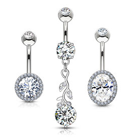 3er Set Angebot Nabelpiercing