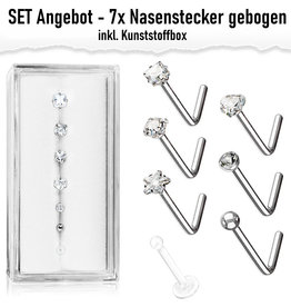 7er Nasenstecker Set Angebot