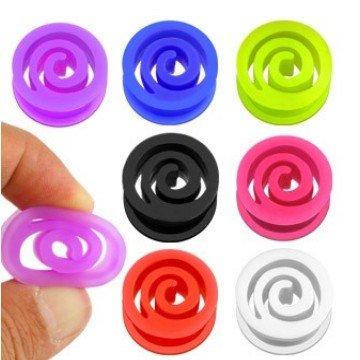 Flexibler Silikonplug mit Spirale