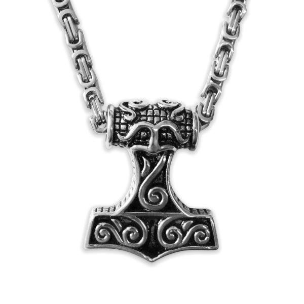 Thors Hammer mit Königskette