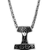 Anhänger Thors Hammer mit Königskette