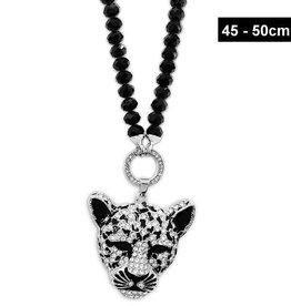 Damen Halskette Leopard