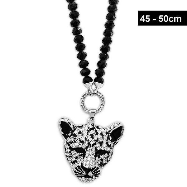 Damen Halskette mit Leopard Anhänger