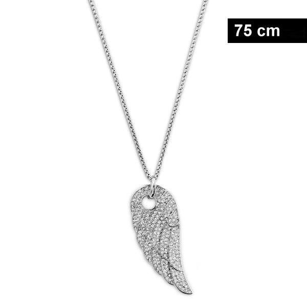 Lange Damen Halskette mit Flügel Anhänger