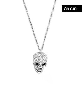 Damen Halskette mit Totenkopf