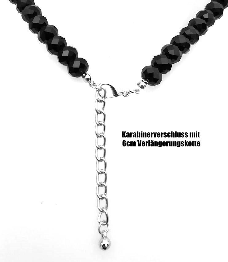 80 cm Schwarze Damen Halskette Flügel