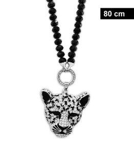 80 cm Damen Halskette Leopard