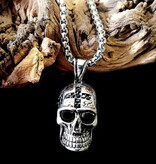 60cm Edelstahl Halskette mit Totenkopf