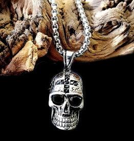 Edelstahlkette Skull