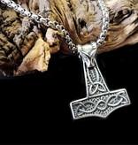 60cm Edelstahl Halskette mit Thors Hammer