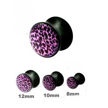 Acryl Plug Leopard- Optik