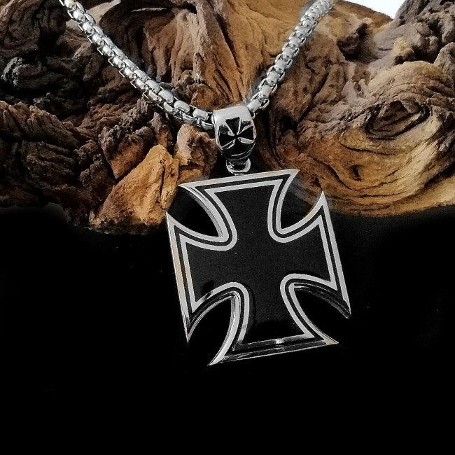Edelstahlkette mit Eisernes Kreuz aus Edelstahl