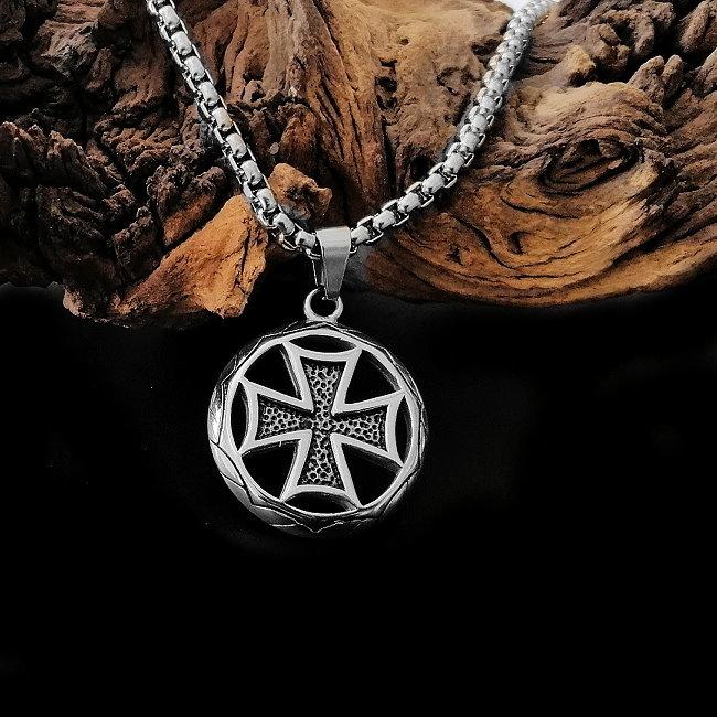 Edelstahl Erbsenkette mit Eisernes Kreuz