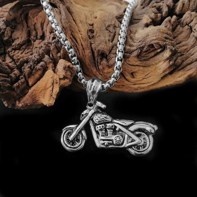 Motorrad Anhänger mit Edelstahlkette