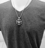 4mm Halskette Edelstahl mit Eisernes Kreuz