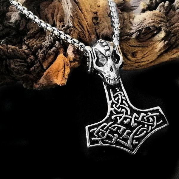 Thors Hammer Halskette aus Edelstahl