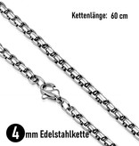 Halskette mit Thors Hammer Totenkopf