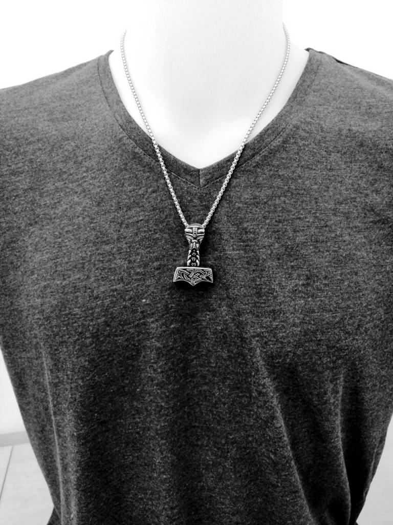 Halskette Thors Hammer aus Edelstahl