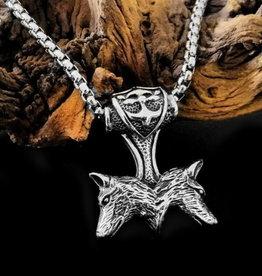 Halskette Wolf Abhänger