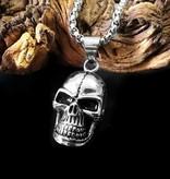 60cm Edelstahl Halskette Skull
