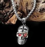 60cm Halskette Totenkopf aus Edelstahl