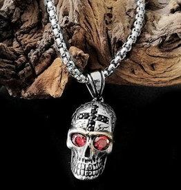 Halskette mit Totenkopf