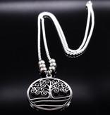 Damen Halskette Lebensbaum aus Edelstahl