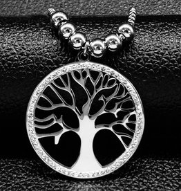 Lange Halskette mit Lebensbaum