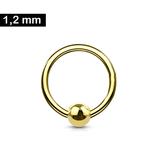1,2 mm Piercing Ring goldfärbig - 3 Größen
