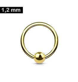 1,2 mm BCR Ring goldfärbig