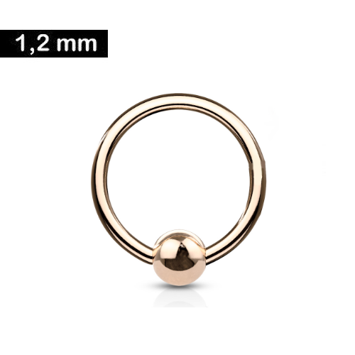 1,2 mm Piercing-Ring rosefärbig