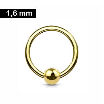 1,6 mm Piercing-Ring gold - 3 Größen