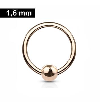 1,6 mm Piercingring rosefärbig