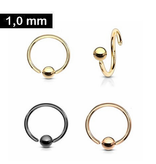 1mm Piercing Ring zum aufbiegen