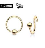 1,2 mm Piercing Ring goldfärbig