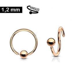 1,2 mm Piercing Ring rose