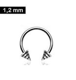 Helix Piercing mit Kegel